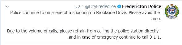 تدوينة تابعة لشرطة كندا