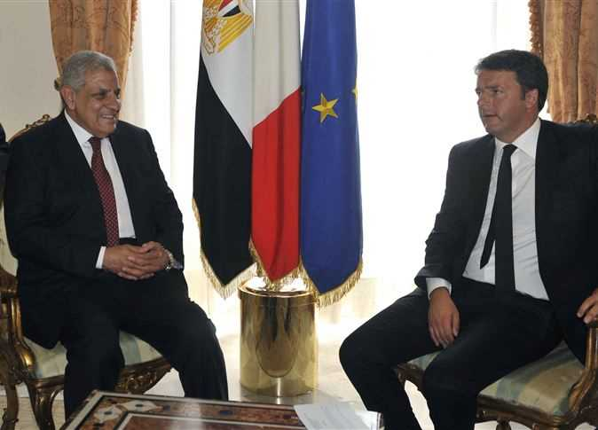 محلب مع رئيس الوزراء الإيطالي