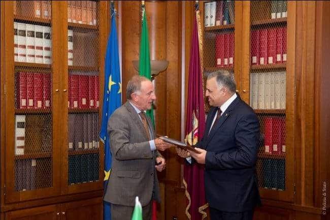 بروتوكول تعاون في روما مع وزارة الداخلية المصرية