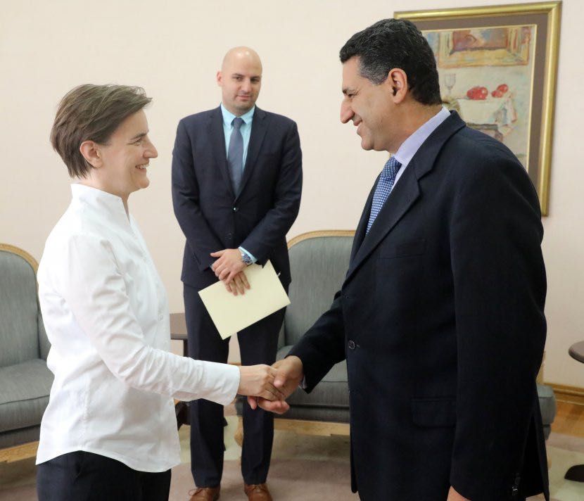 رئيسة وزراء صربيا تبحث مع سفير مصر ببلجراد سبل تعزيز العلاقات الاقتصادية (2)