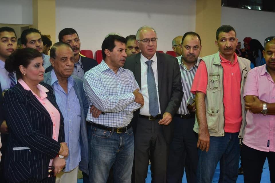 وزير الشباب والرياضة يعلن رعاية البطولة العربية للسلة سيدات بنادى الأولمبى