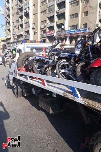 حجز13توك-توك-ودراجة-نارية-بدون-لوحات-وتحصيل30ألف-جنيه-غرامات-فورية-بالغربية-(2)