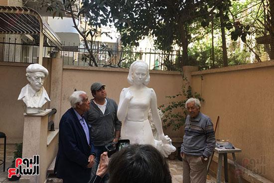 تمثال فاتن حمامة (1)