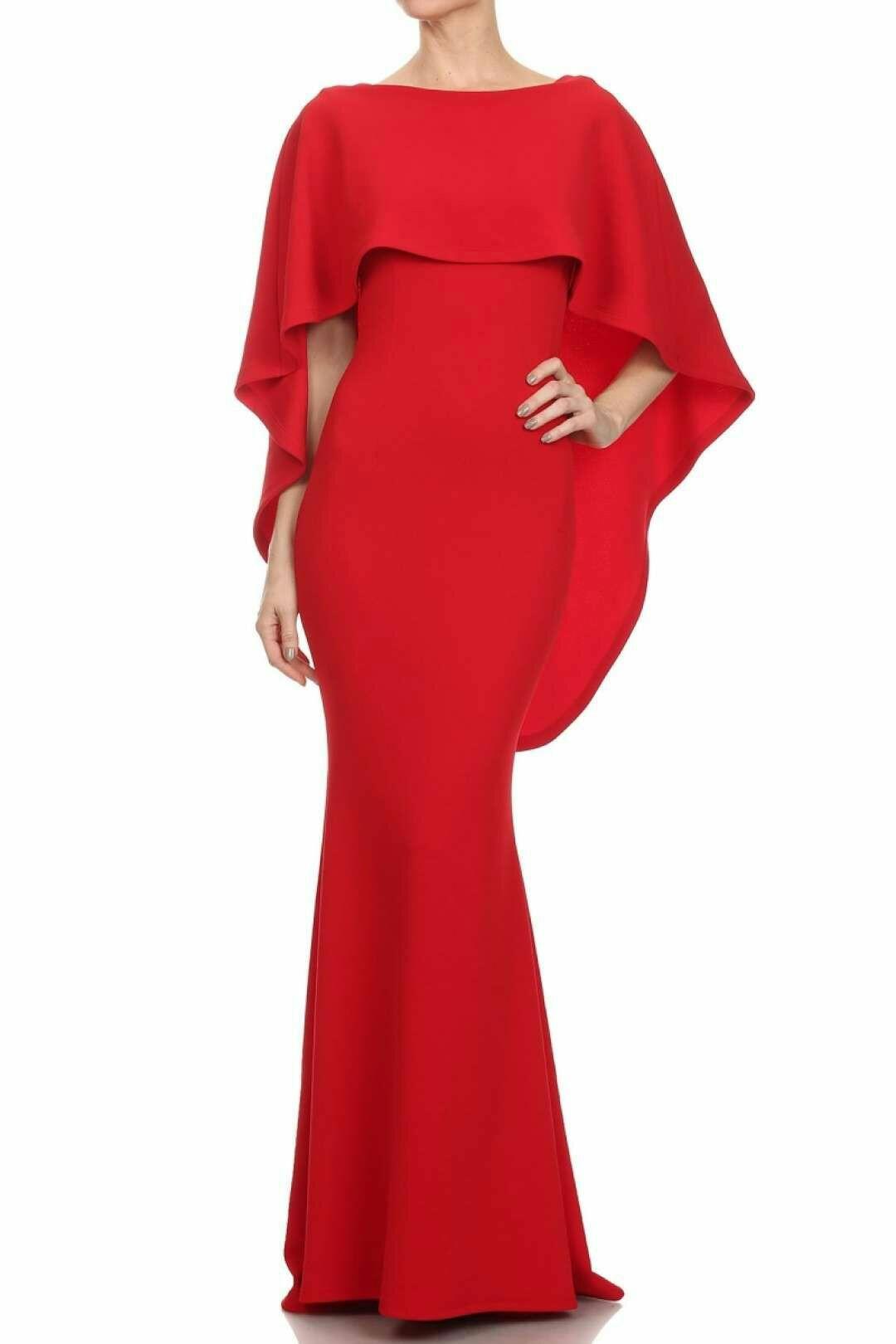 الفستان الكاب الأحمر