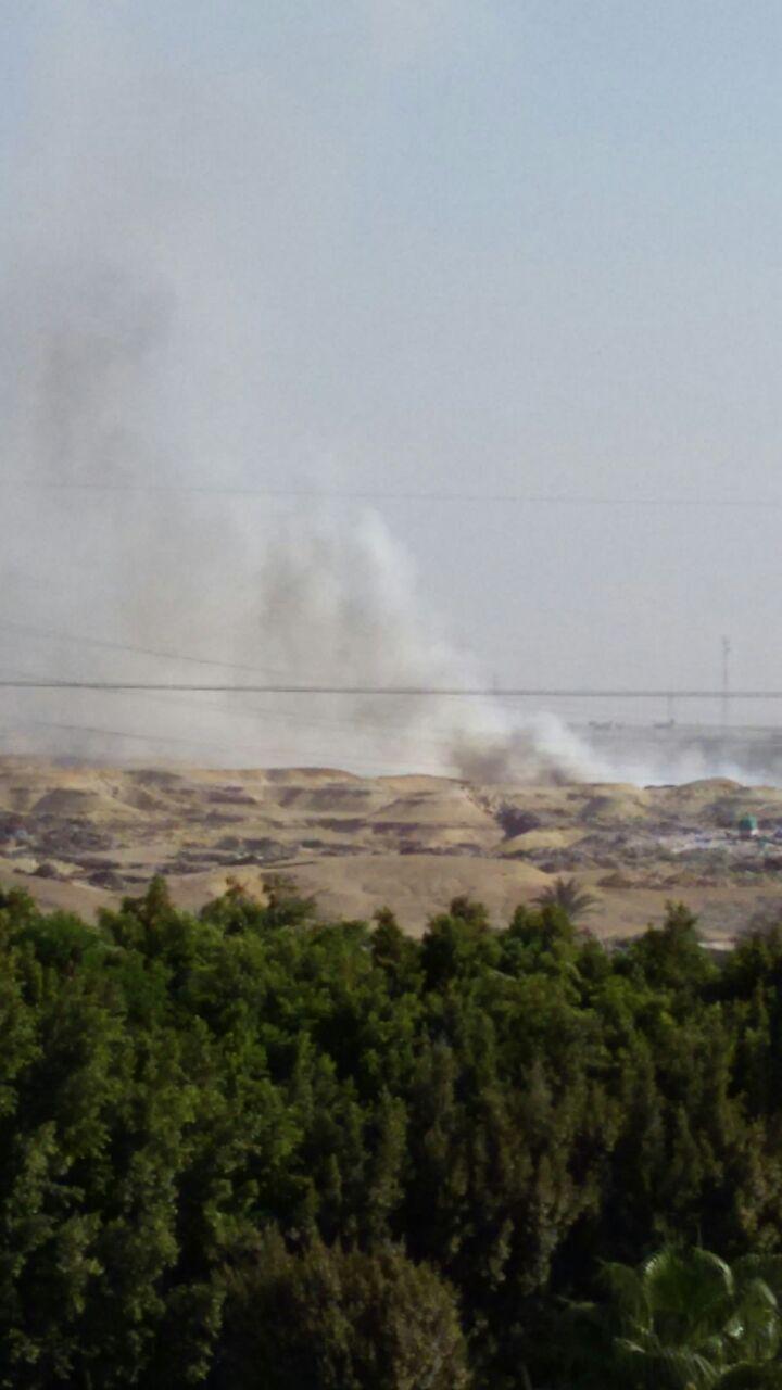 استمرار حرائق القمامة بالتجمع الثالث فى القاهرة الجديدة (1)