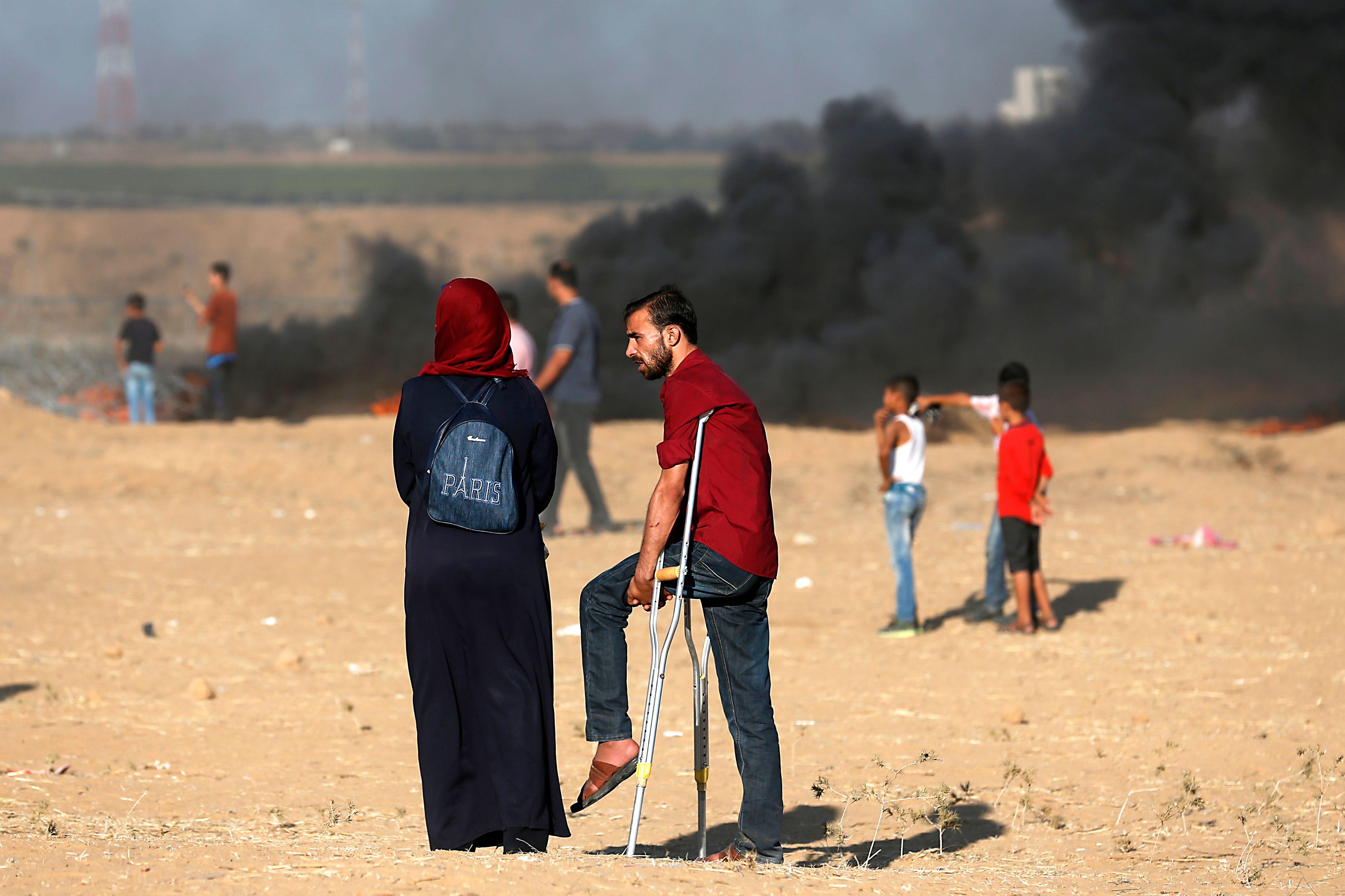 اصابة فلسطينة
