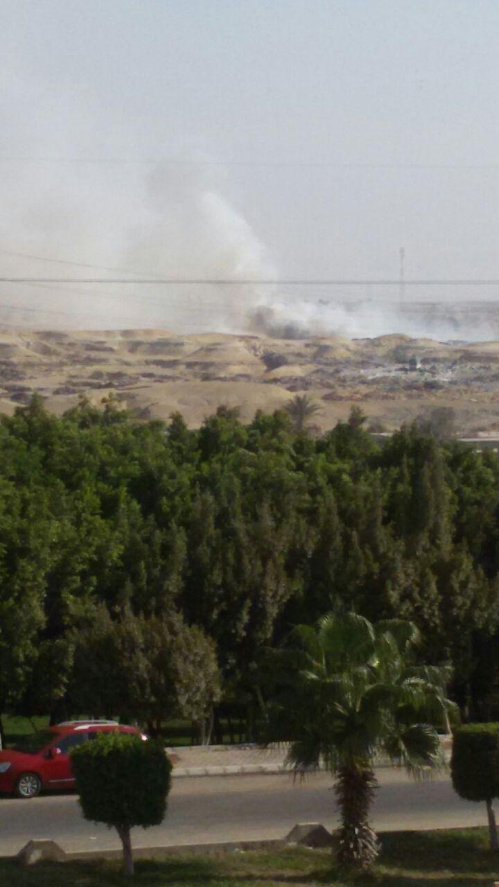 استمرار حرائق القمامة بالتجمع الثالث فى القاهرة الجديدة (4)