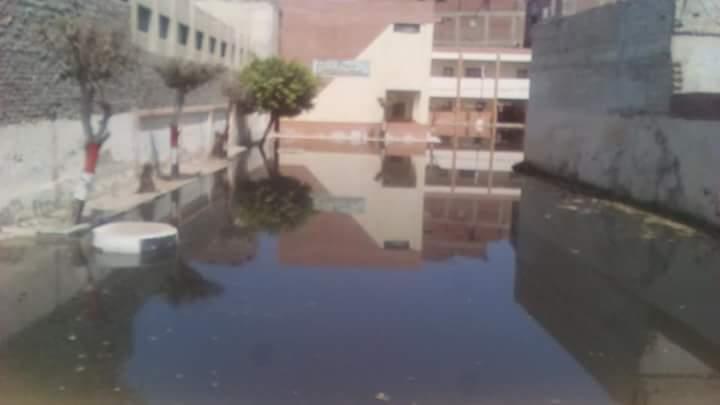 مياه المجارى تغرق مدرسة عمرو بن العاص  (4)