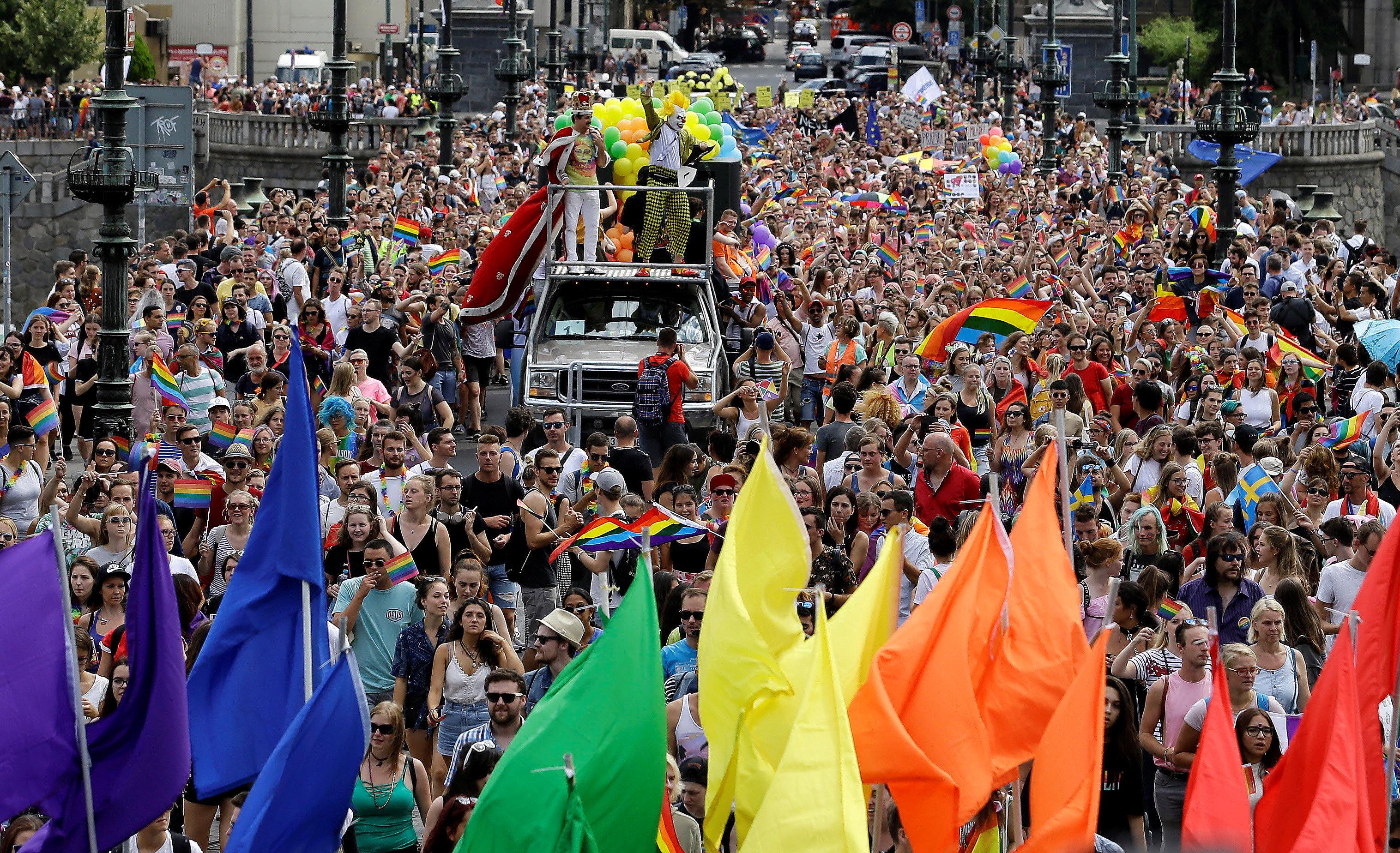 جانب من مظاهرات المثليين فى التشيك