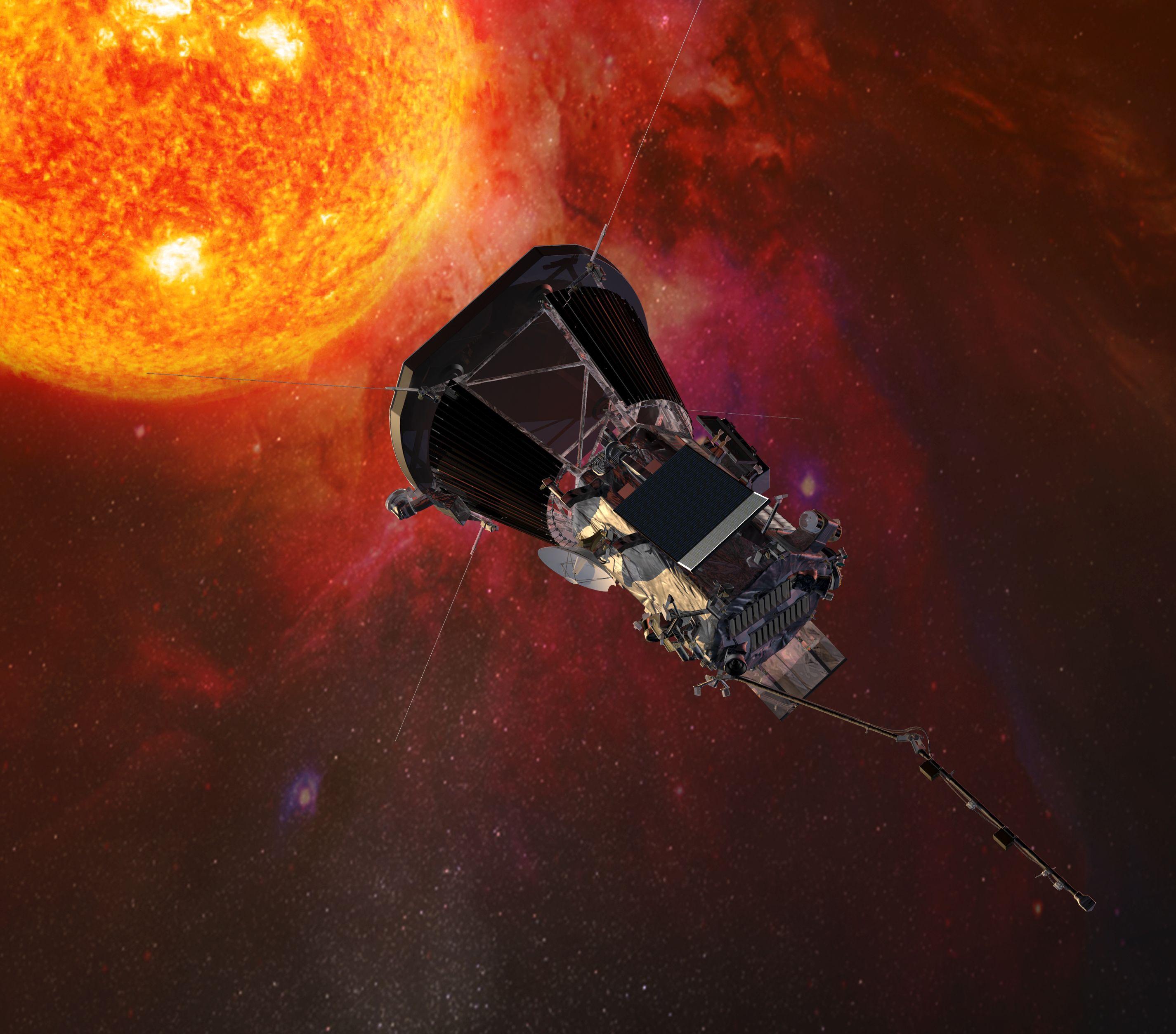 المسبار فى الشكل المتوقع أن يكون عليه خلال دراسة غلاف الشمس