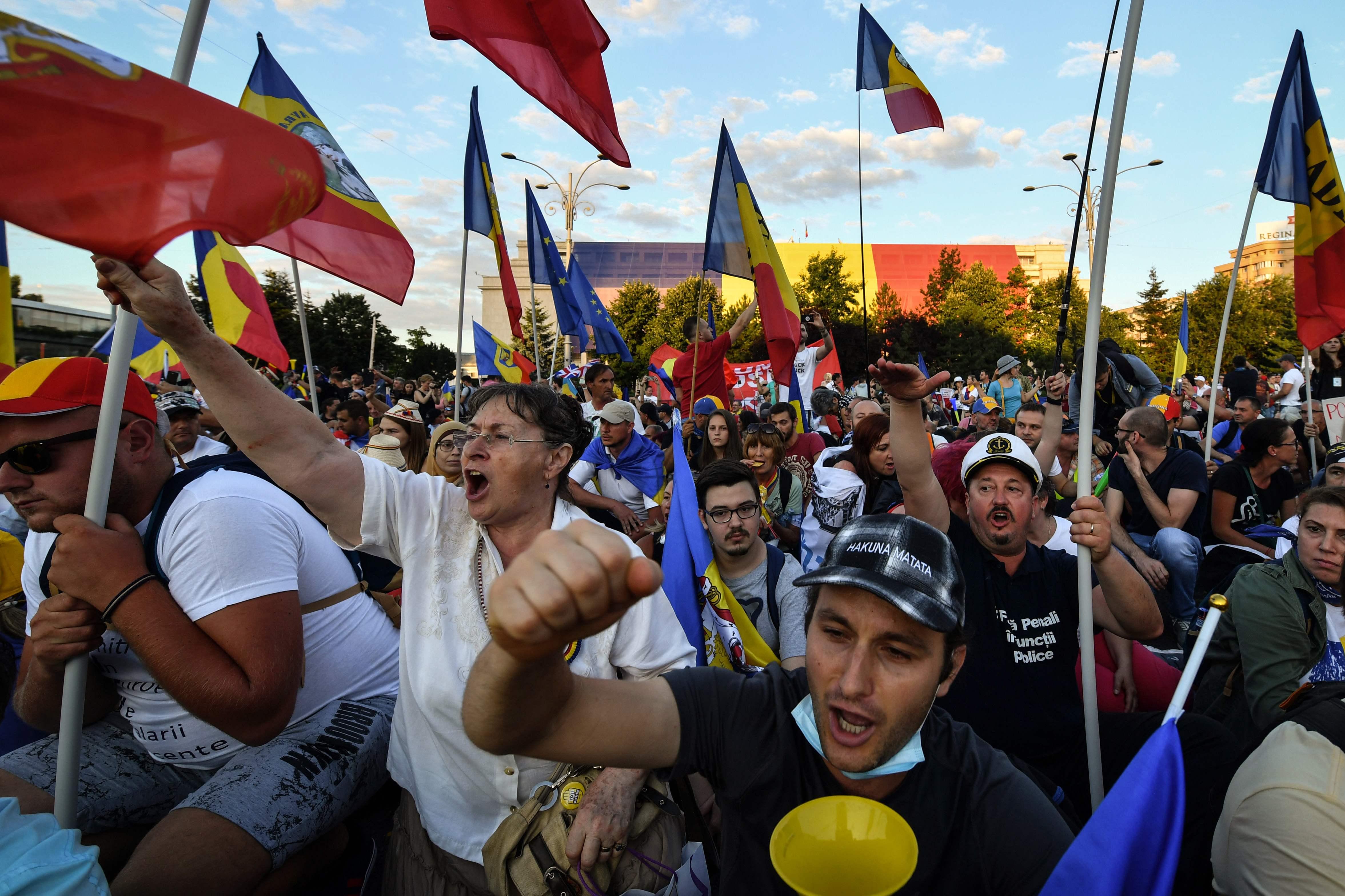 احتجاجات بوخارست