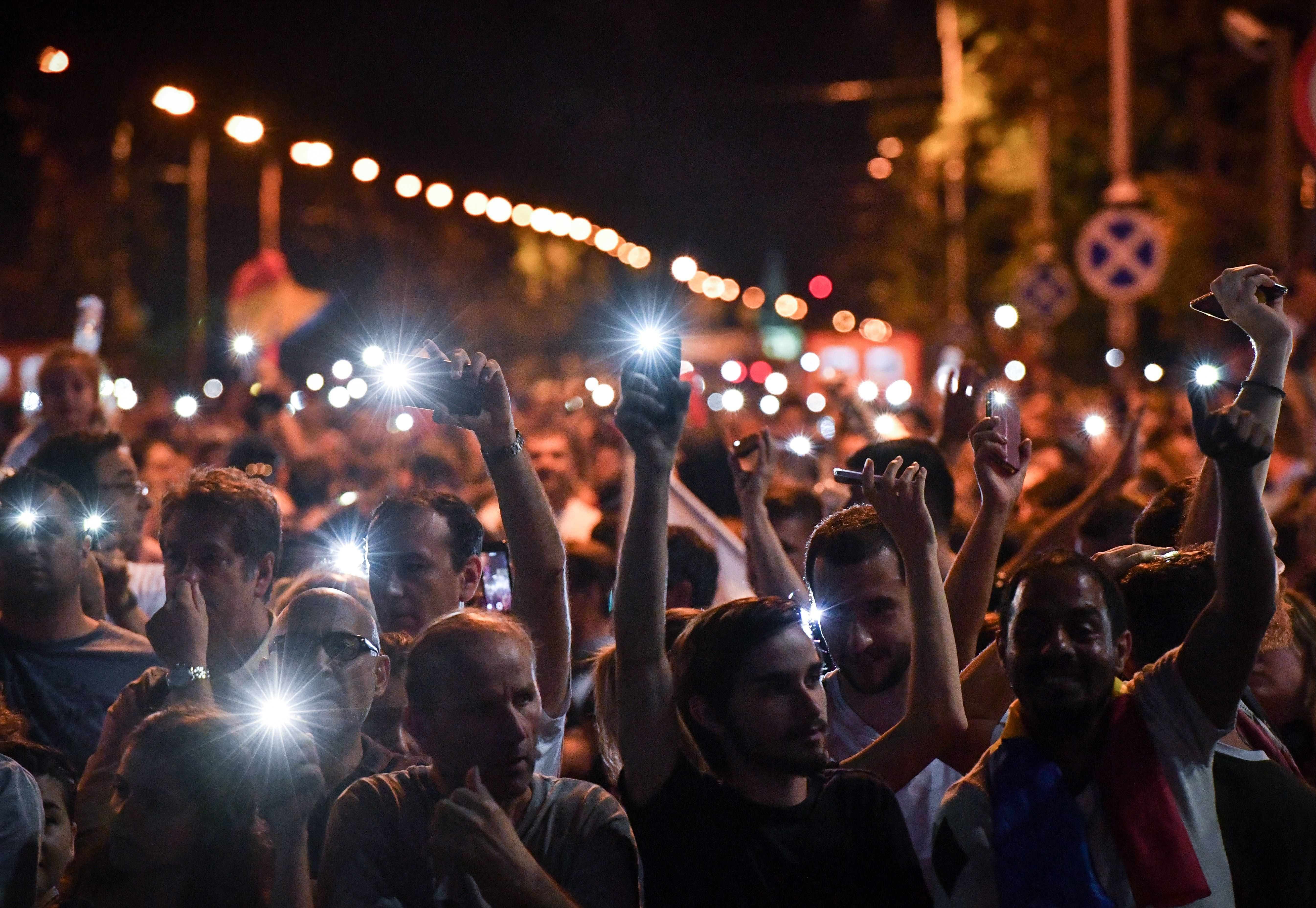 جانب من الاحتجاجات فى رومانيا