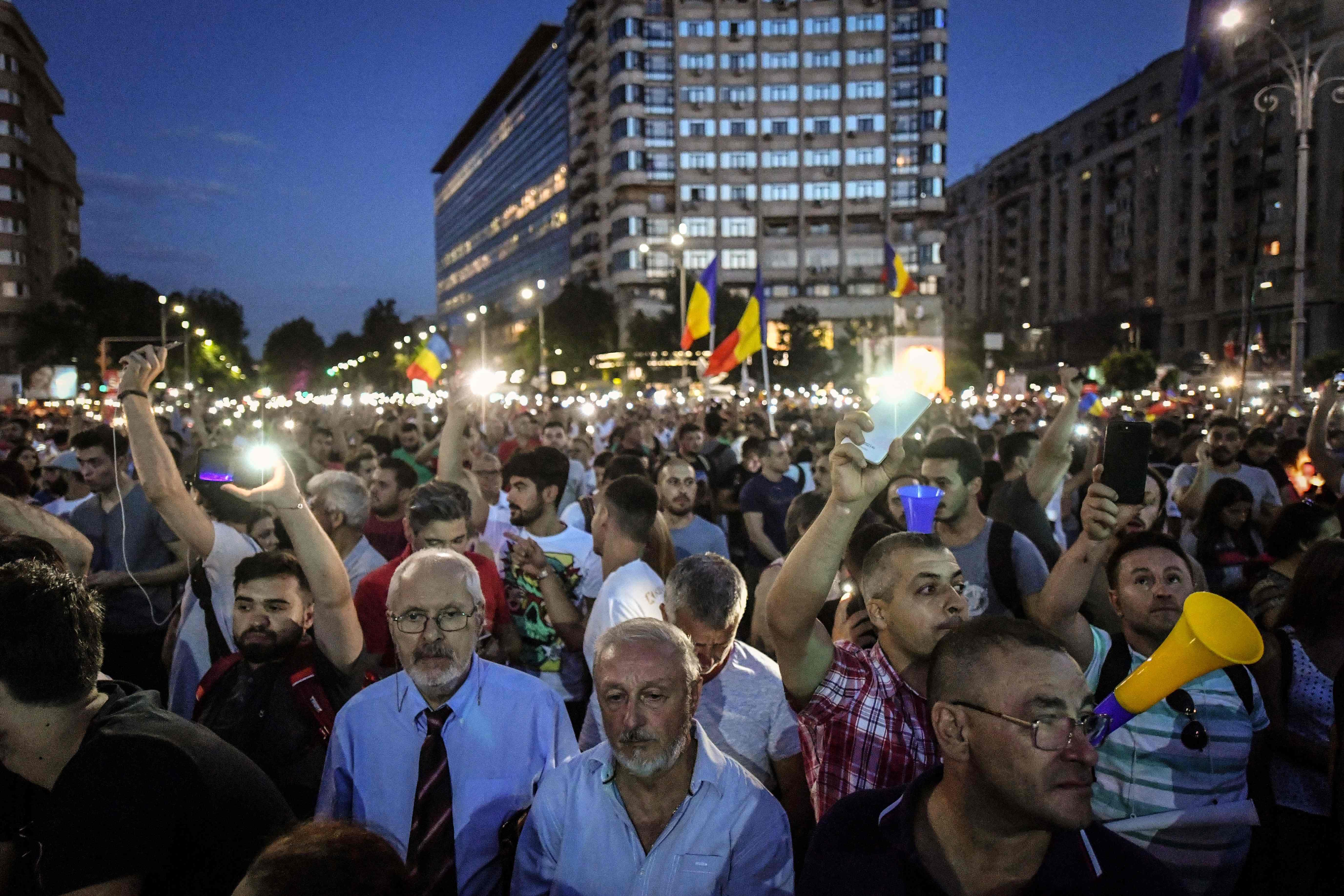 تظاهرة جديدة فى بوخارست