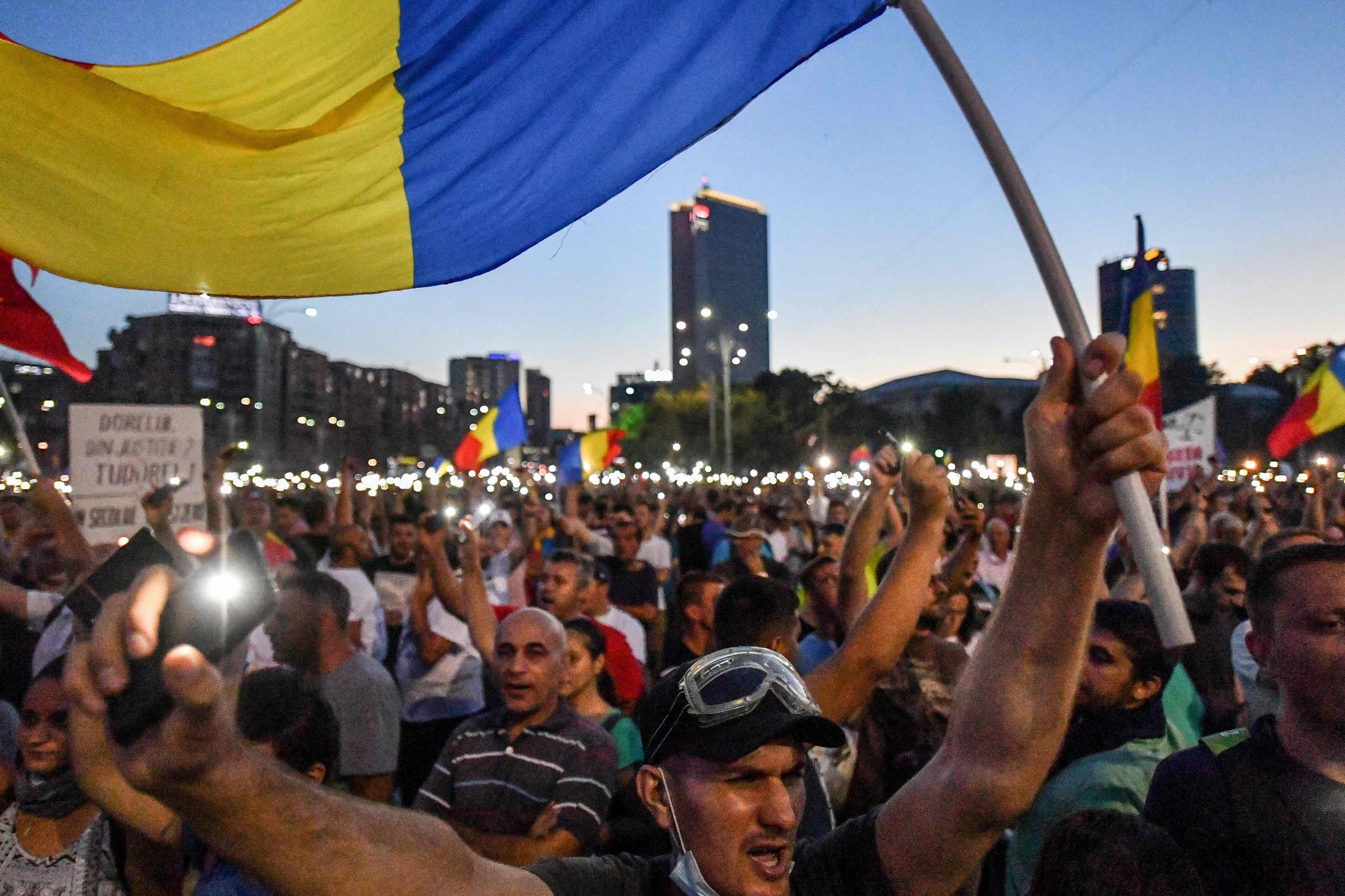 احتجاجات فى بوخارست