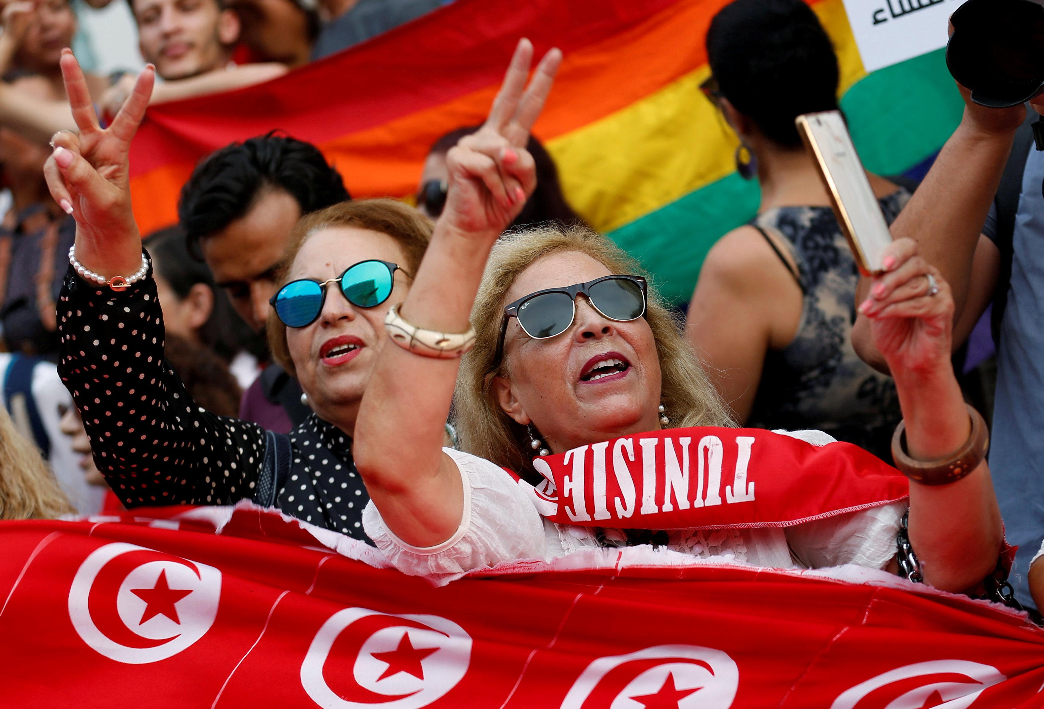 جانب من مظاهرات تونس