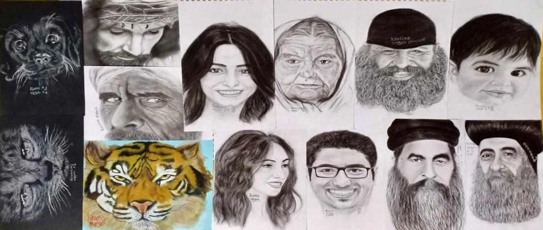 احدى رسومات ولوحات الموهبة  (7)