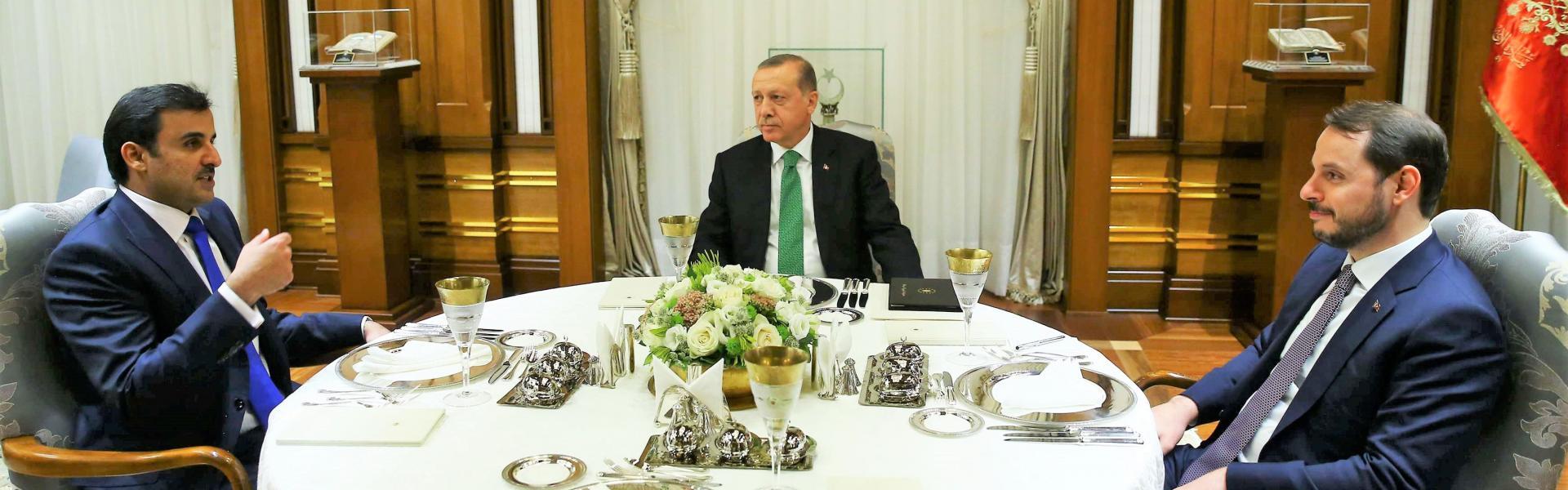 أردوغان يترأس جلسة بين تميم ووزير تركى