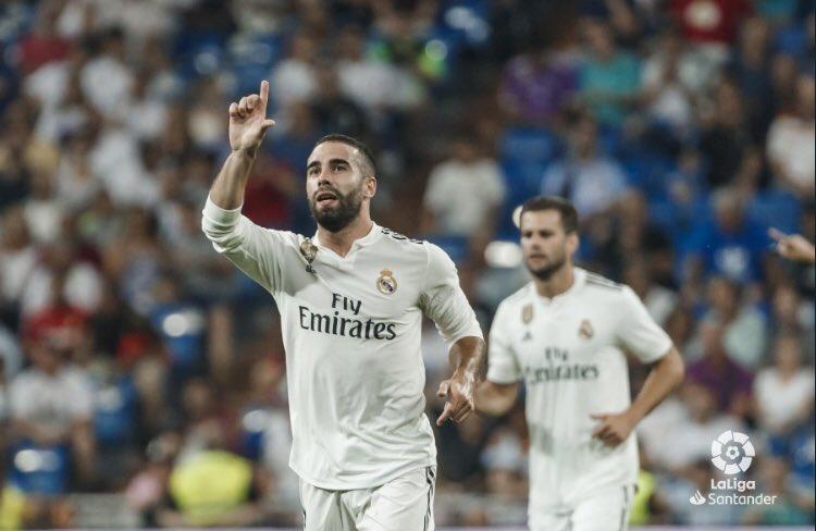 كارفخال يفتتح أهداف ريال مدريد فى الموسم الجديد