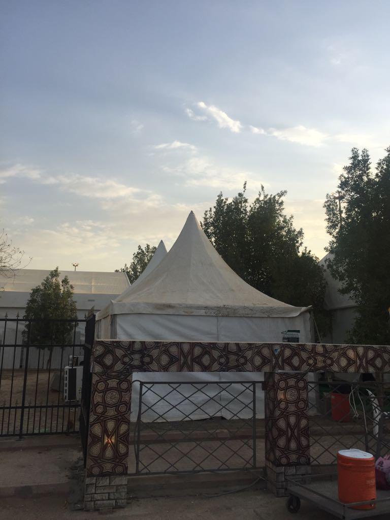 أحد مخيمات البعثة المصرية فى منى