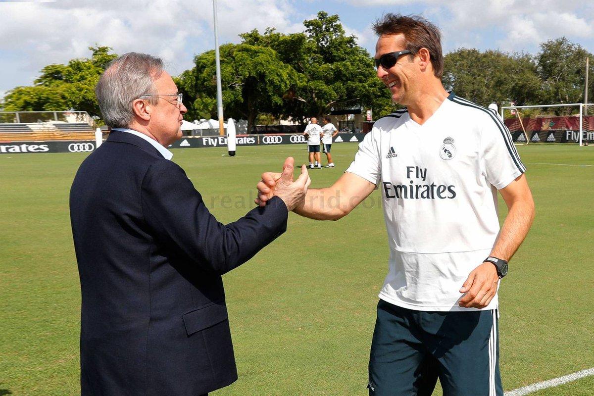 رئيس ريال مدريد وجولين لوبيتيجي