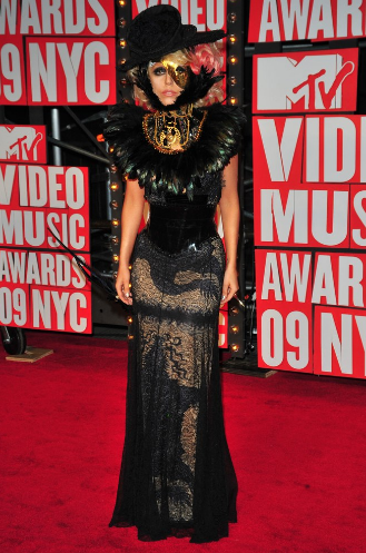 Lady Gaga in Jean Paul Gaultier, 2009