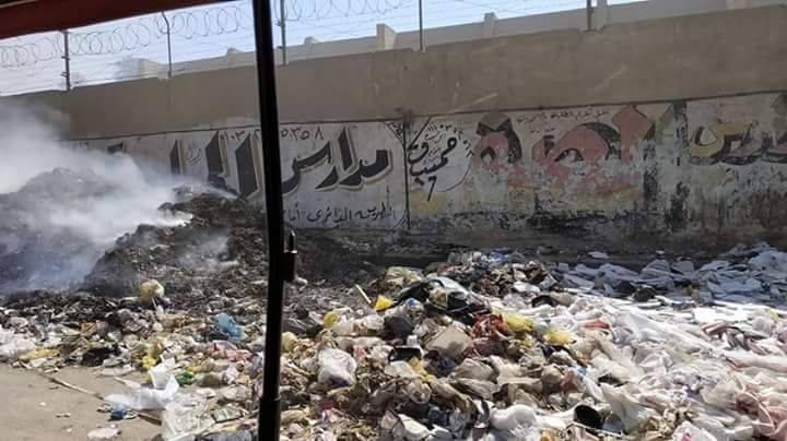 حرق القمامة فى جسر السويس   (4)