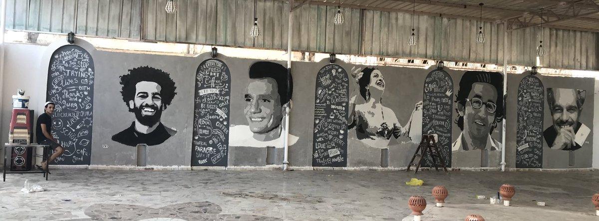 جرافيتى المشاهير المصريين