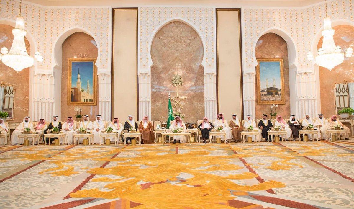لقاء خادم الحرمين الشريفين فى قصر منى