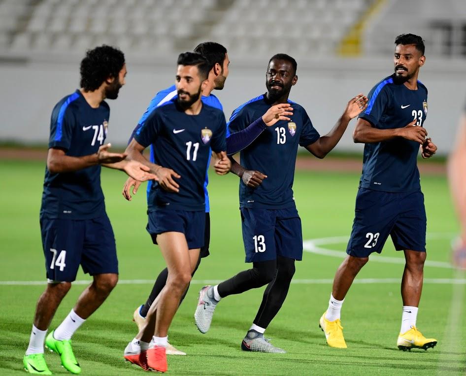 حسين الشحات فى تدريبات العين قبل مواجهة السوبر (1)