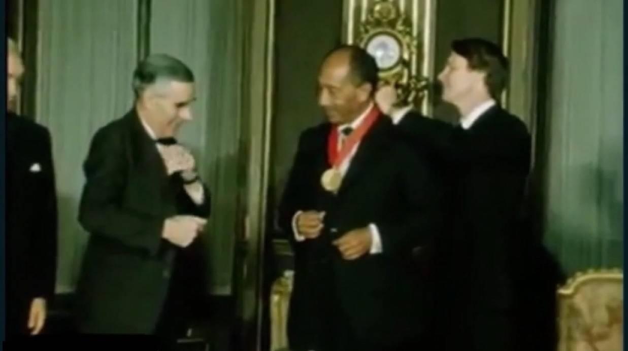 حصول الرئيس المصرى الأسبق على جائزة نوبل للسلام