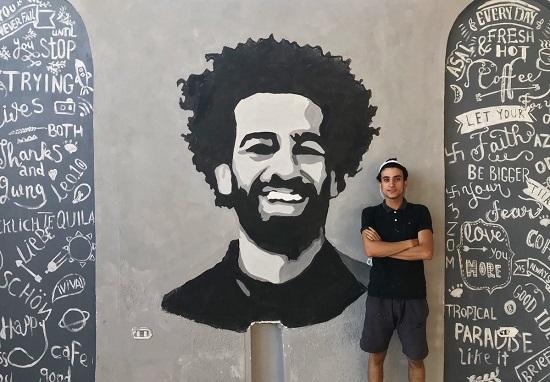 محمد صلاح فى الجدارية الأخيرة