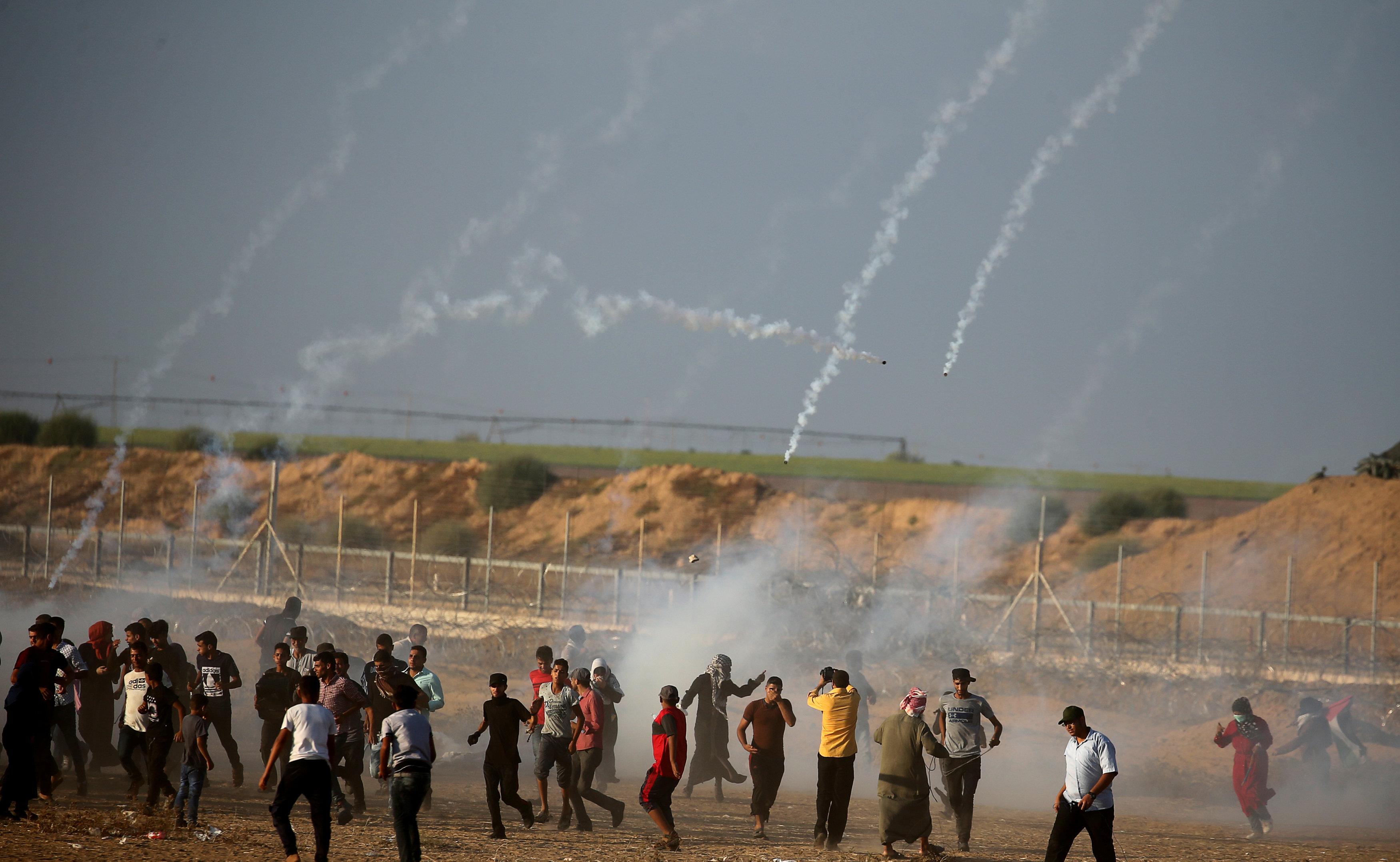 اشتباكات بين الفلسطينيين والااحتلال الإسرائيلى
