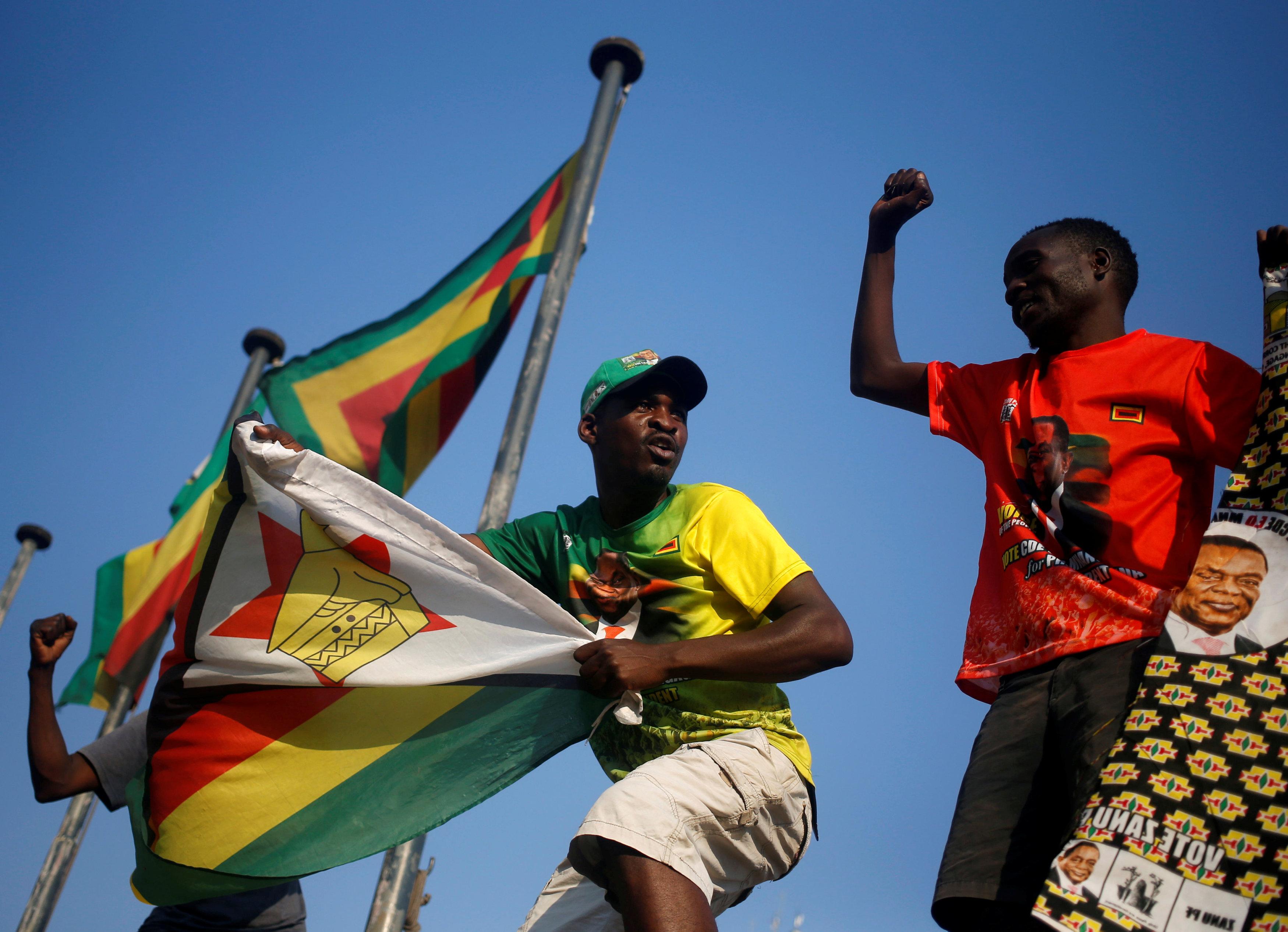 جانب من الاحتفالات فى زيمبابوى