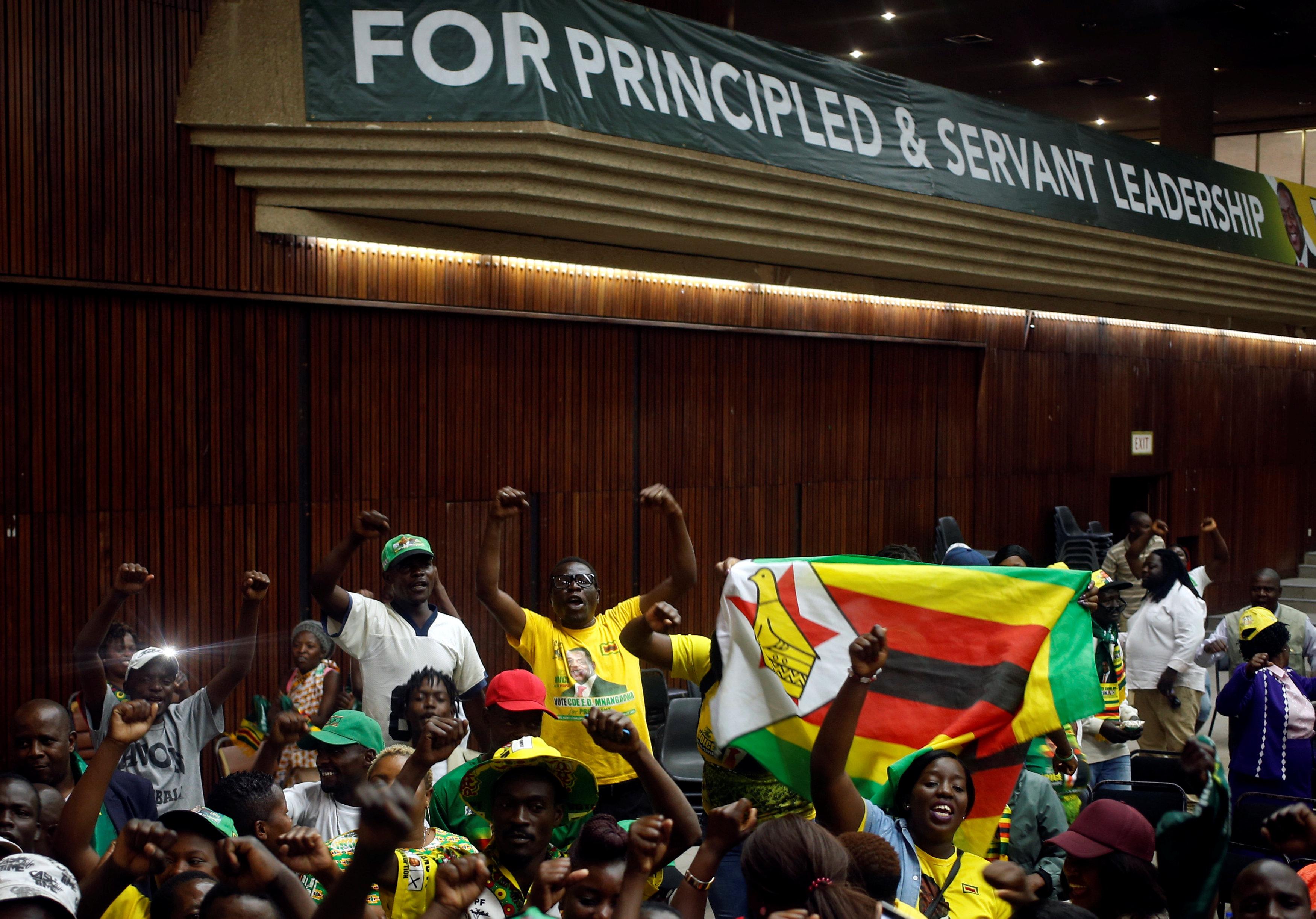 أنصار الرئيس الزيمبابوى