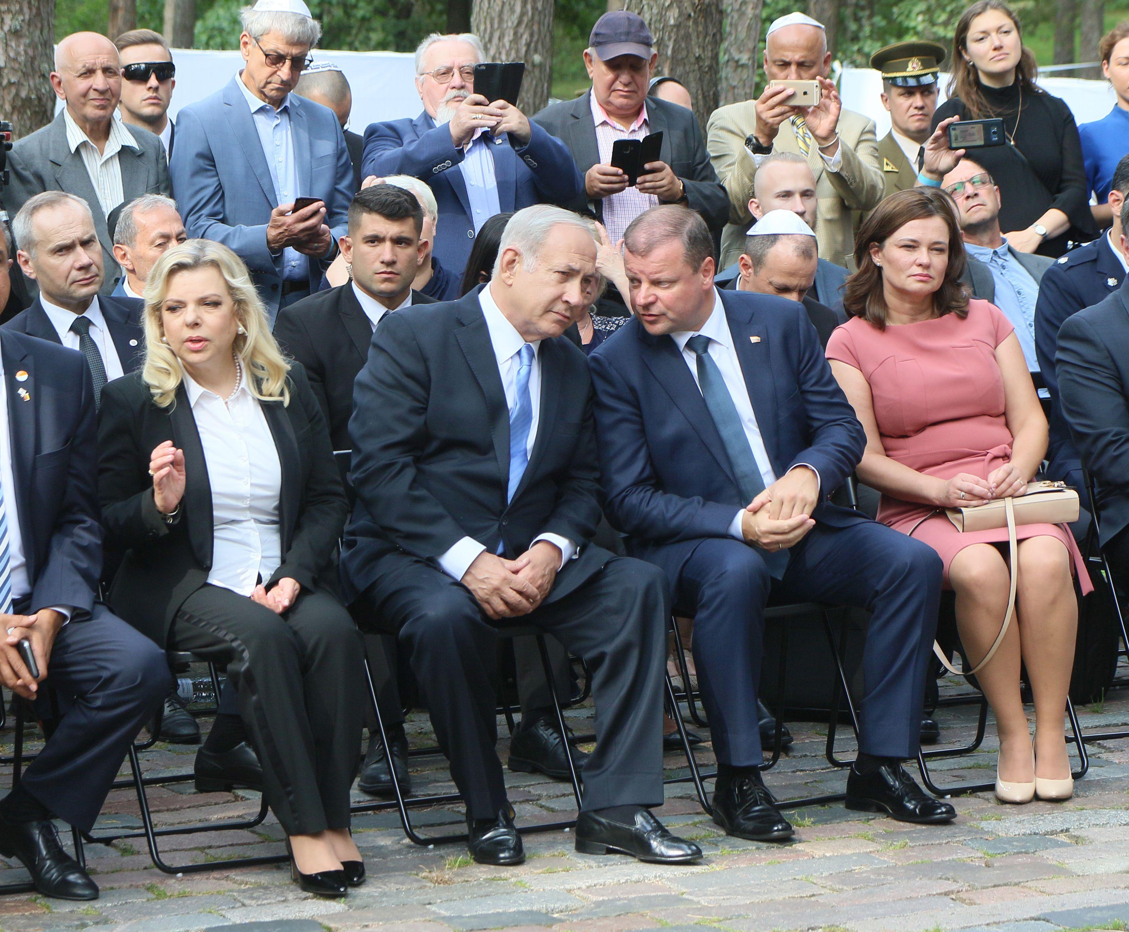 رئيس وزراء ليتوانيا وزوجته ونتنياهو وزوجته