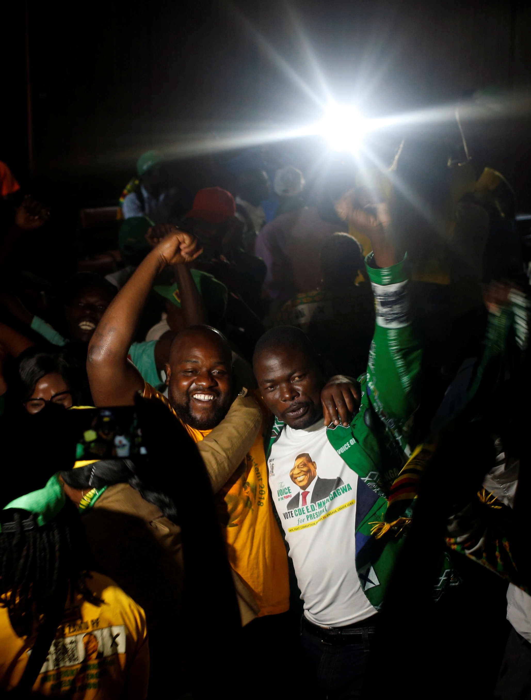 احتفالات أنصار رئيس زيمبابوى