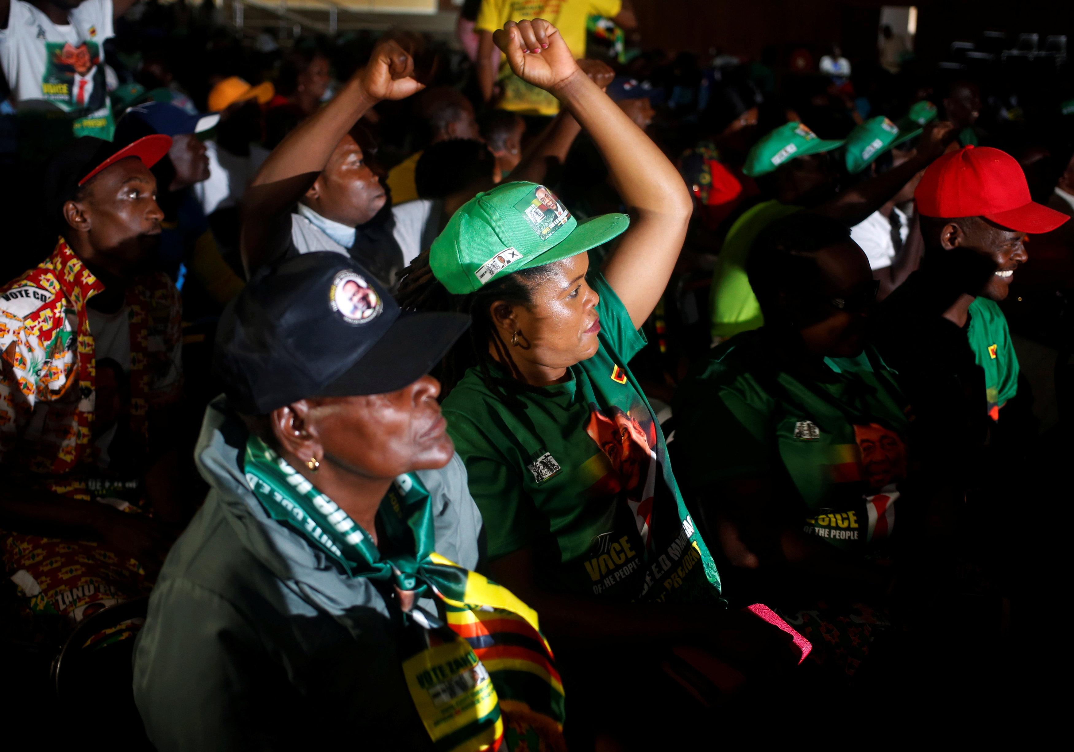 أنصار رئيس زيمبابوى