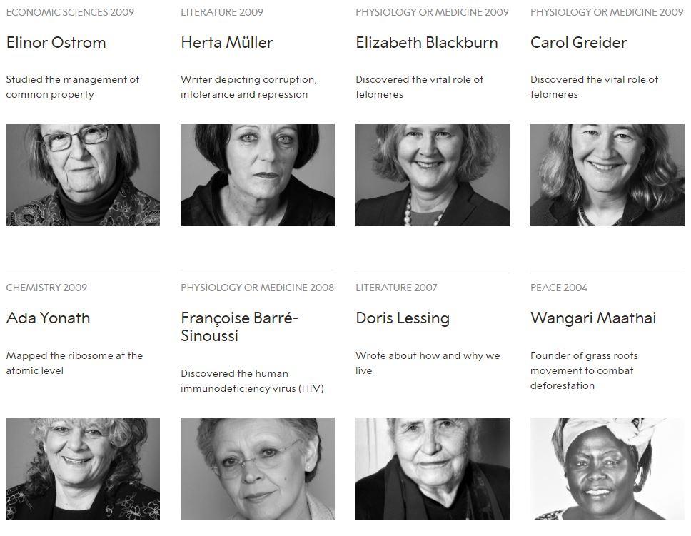 نساء حصلن على جائزة نوبل منذ تأسيسها (3)
