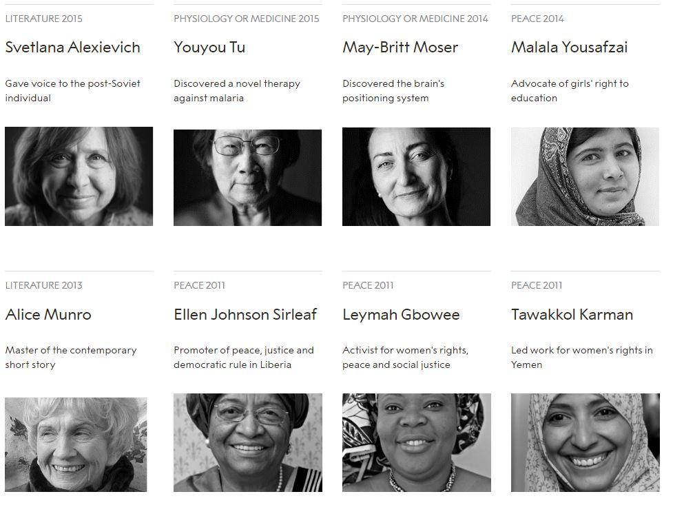 نساء حصلن على جائزة نوبل منذ تأسيسها (2)
