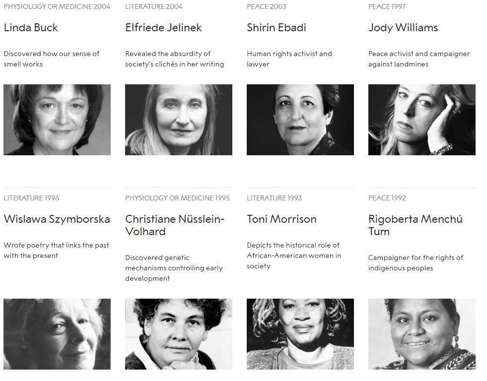 نساء حصلن على جائزة نوبل منذ تأسيسها (4)
