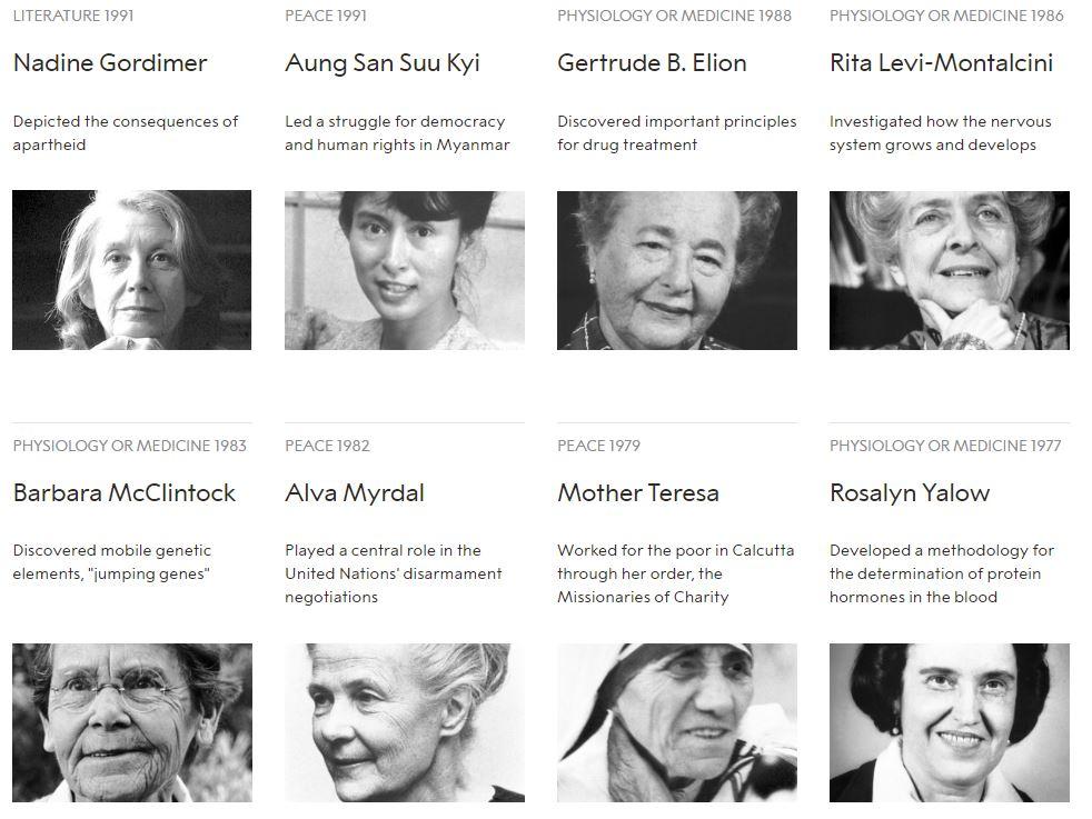 نساء حصلن على جائزة نوبل منذ تأسيسها (5)