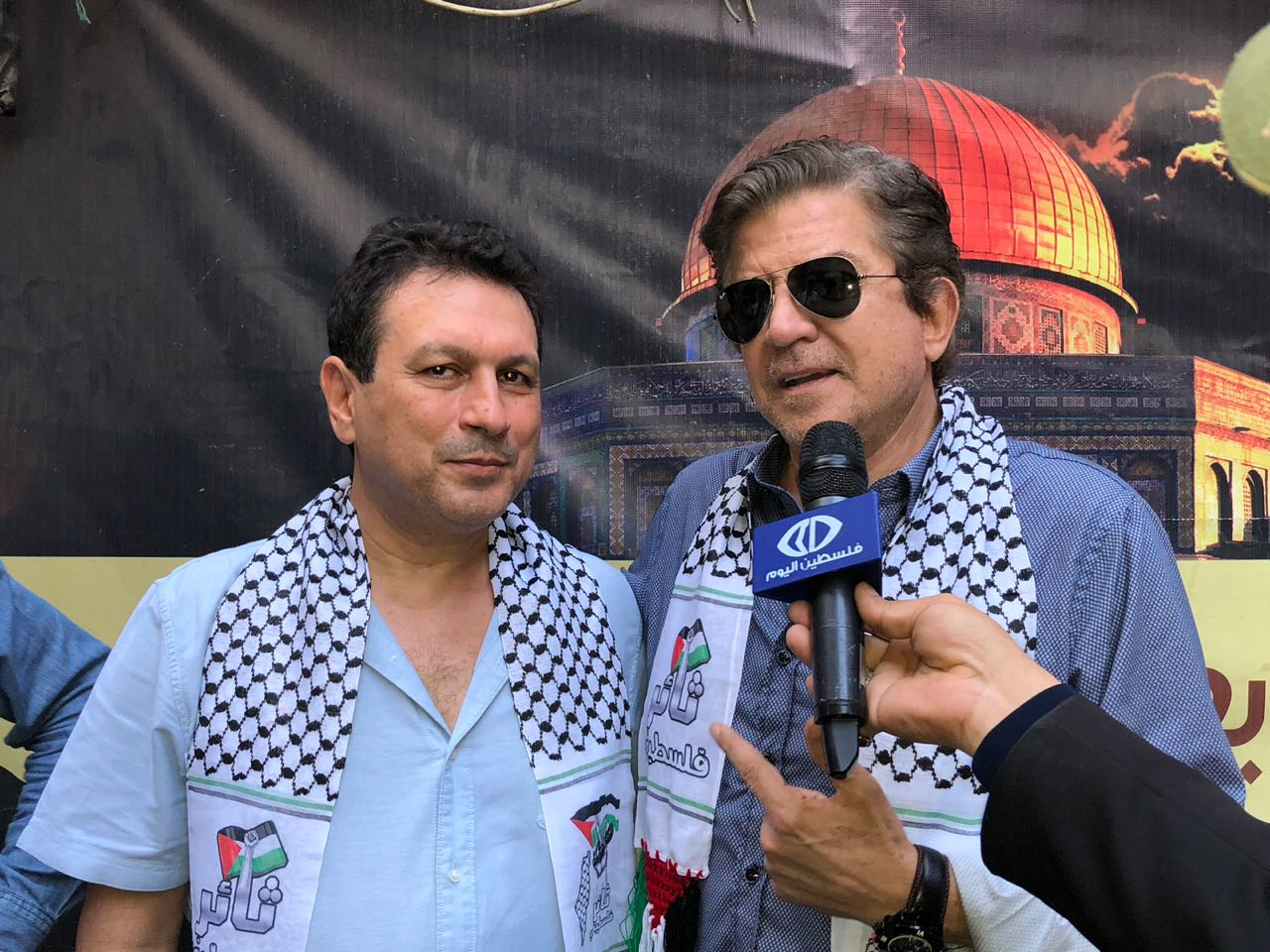 3611bb59d أخر كلام   وليد توفيق يزور أهالى مخيم شاتيلا الفلسطينى لتهنئتهم بعيد الأضحى