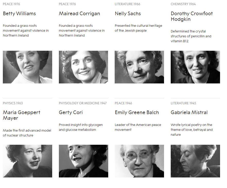 نساء حصلن على جائزة نوبل منذ تأسيسها (6)
