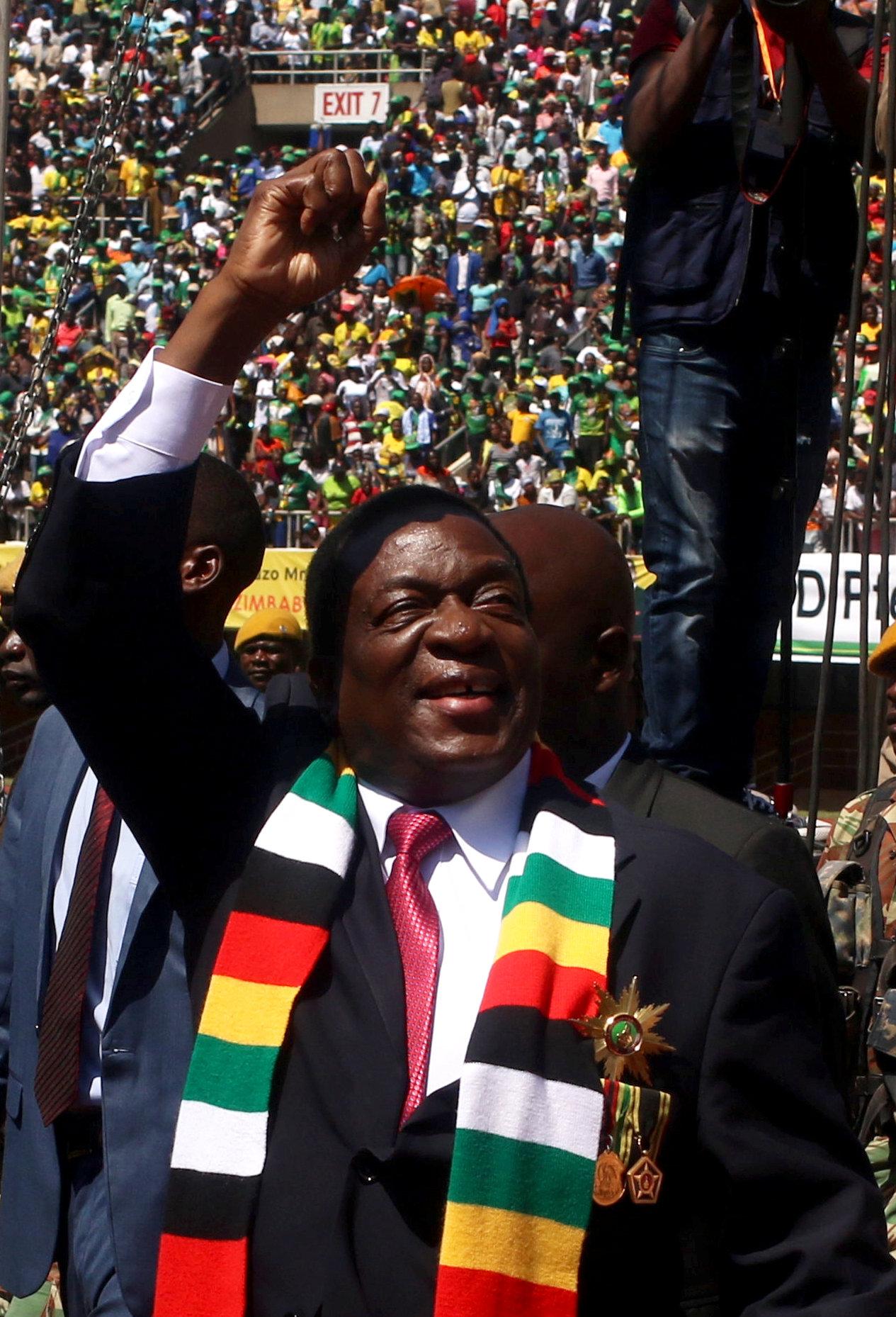 رئيس زيمبابوى يحيى جماعير الحضور