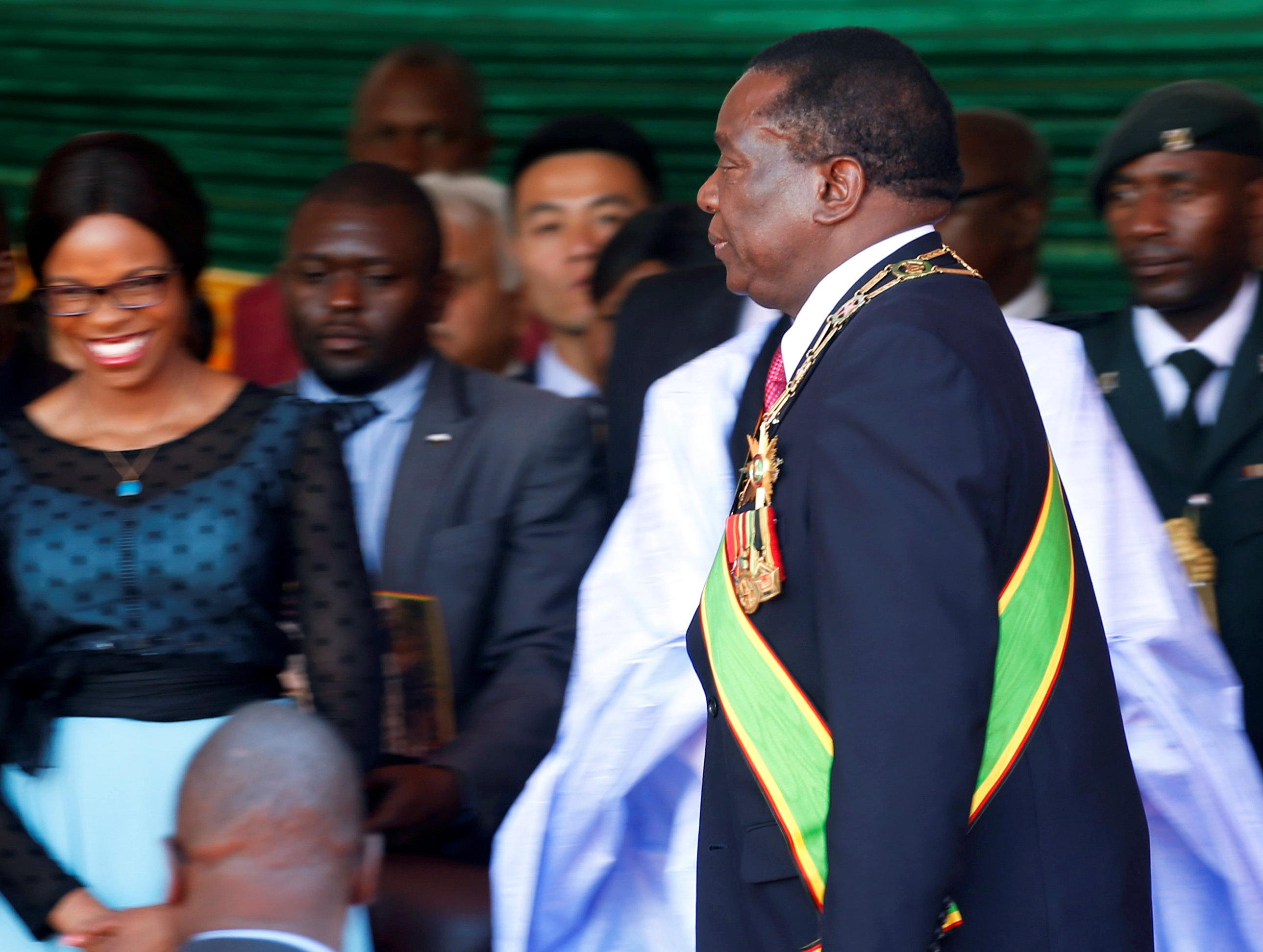 الرئيس الزيمبابوى فى مراسم حفل التنصيب