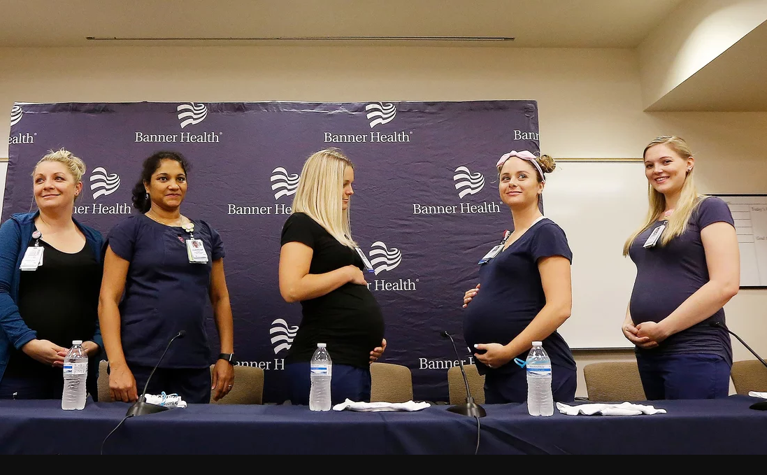 الممرضات أثناء المؤتمر (3)