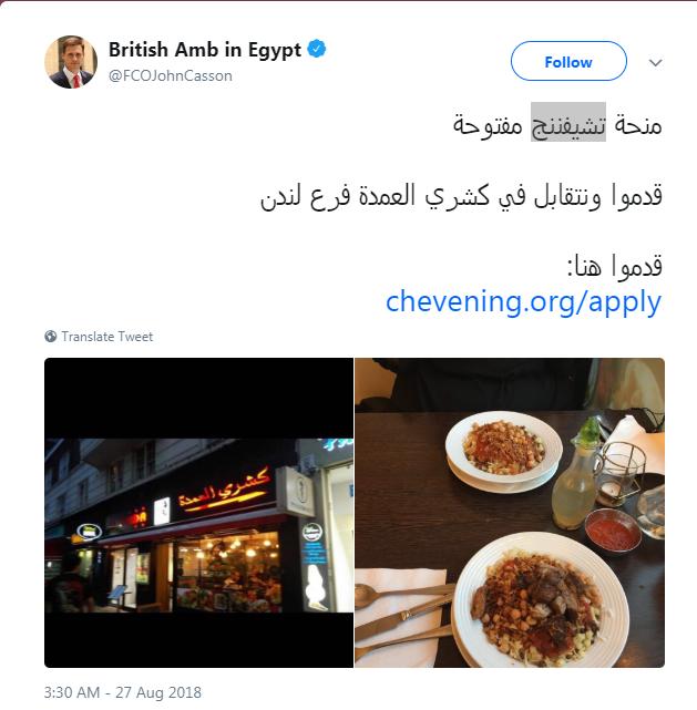 السفير البريطانى