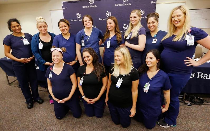 الممرضات أثناء المؤتمر (1)