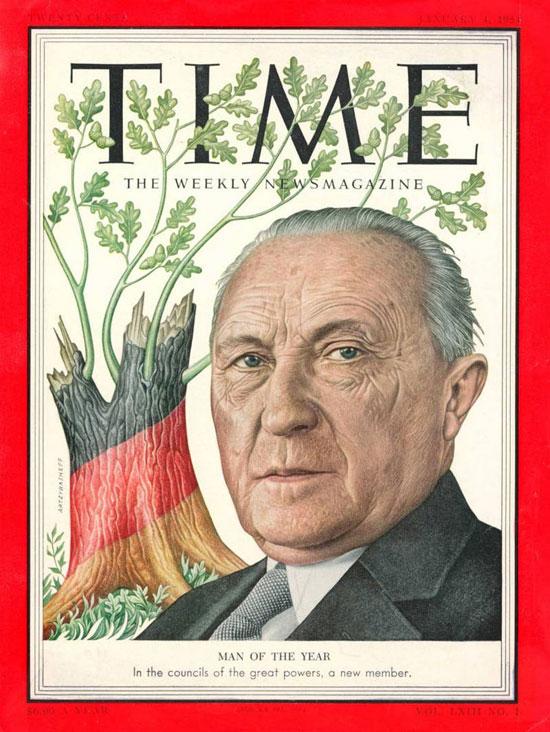 1953 - كونراد هيرمان يوسف أديناور