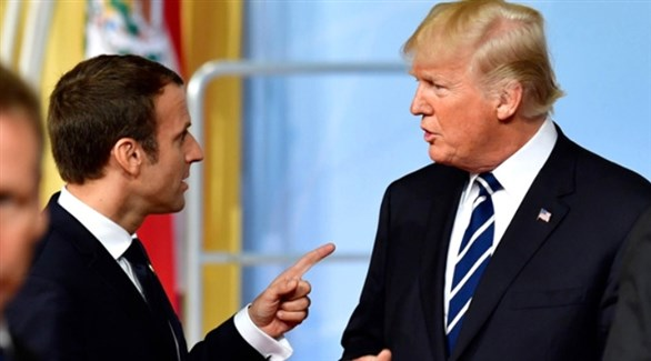 الرئيس الأمريكى دونالد ترامب ونظيره الفرنسى إيمانويل ماكرون